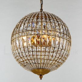 Globe Modern LED K9 Crystal Ceiling Pendant Light Indoor Chandeliers Home Hanging Down Lighting Lamps Fixtures