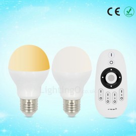 Dimmable 6W E26/27 LED 3200K-6500K Candle Bulb (85-265V) with Remote Control