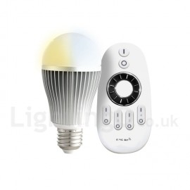Dimmable 9W E26/27 LED 3200K-6500K Bulb (85-265V) with Remote Control