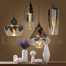 European Retro Dining Room Glass Pendant Light Lounge LED Pendant Lamp