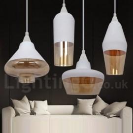 European Retro Dining Room Lounge Glass Pendant Light