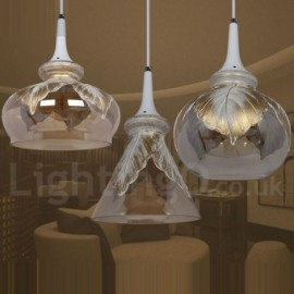 European Modern/Contemporary Dining Room Lounge LED Glass Pendant Light