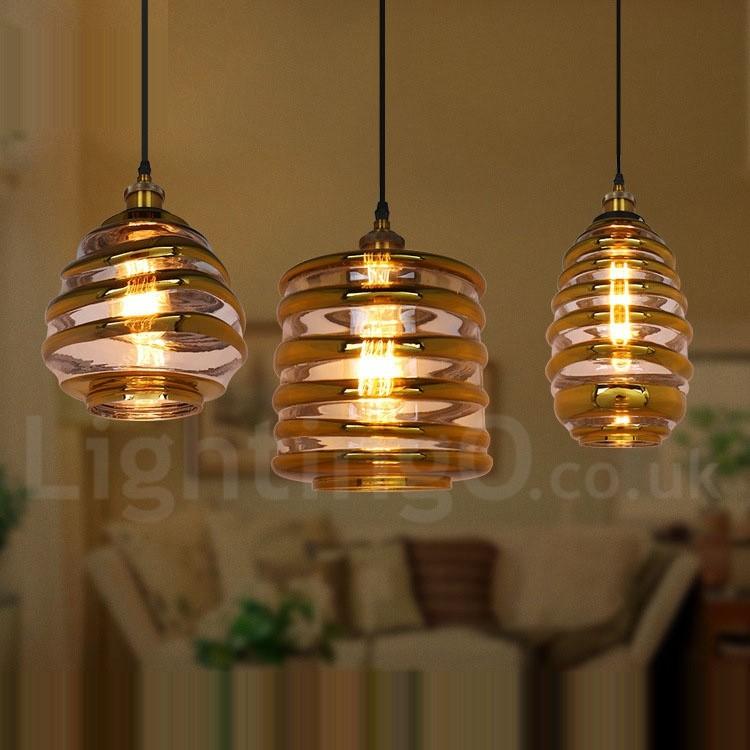 European Glass Pendant Light Bar Cafe Lounge Dining Room