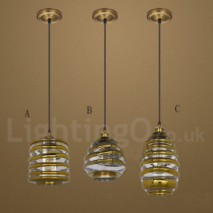 European Glass Pendant Light Bar Cafe Lounge Dining Room