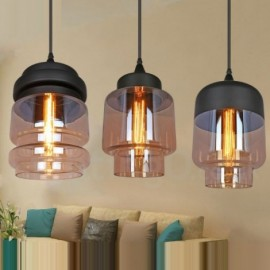 Rustic Glass Pendant Light European Bar Lounge Dining Room Pendant Lamp