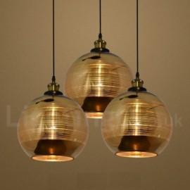 European Glass Pendant Light Bar Cafe Living Room Dining Room Pendant Lamp