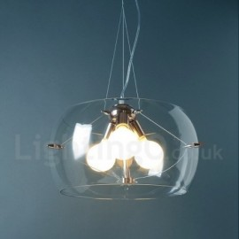 3 Light Modern/Contemporary Living Room Dining Room Bar Glass Pendant Light