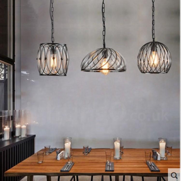 1 Light Vintage Cafe Glass Pendant Light Loft Dining Room Pendant Lamp For Living Room Bar