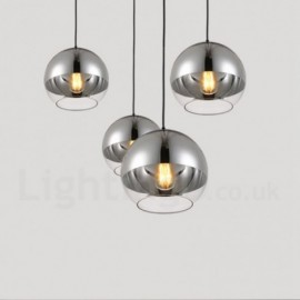 1 Light Modern/Contemporary Plating Dining Room Bar Cafe Led Glass Pendant Light