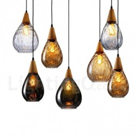 1 Light Nordic Style Modern/Contemporary Glass Pendant Light for Bar Dining Room Living Room Bedroom