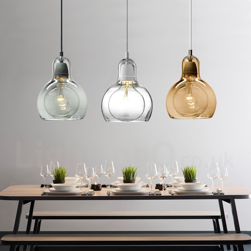 1 Light Nordic Style Modern Contemporary Glass Pendant