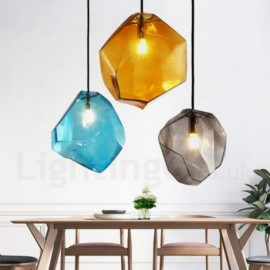 1 Light Rustic/ Lodge Bar Cafes Dinning Room Pendant Light with Glass Shade
