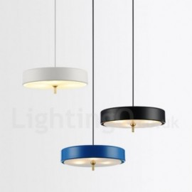 1 Light Modern/ Contemporary Bedroom Living Room Luxury Living Room Hotel Pendant Light with Glass Shade
