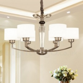6 Light Modern/ Contemporary Living Room Dinning Room Bedroom Chandelier with Glass Shade