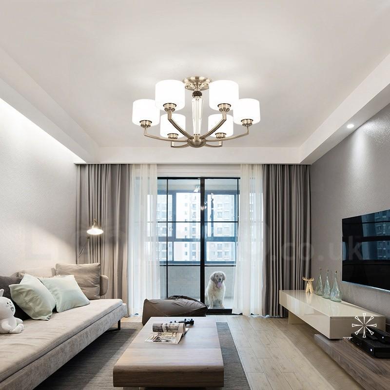 Modern Chandeliers For Living Room: 6 Light Modern/ Contemporary Living Room Dinning Room