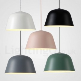 1 Light Modern/ Contemporary Steel Pendant Light with Aluminum alloy Shade