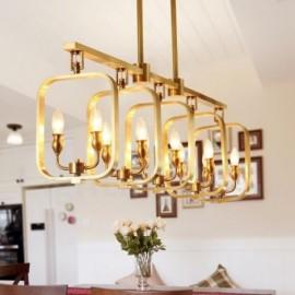 10 Light Retro,Rustic,Luxury Brass Pendant Lamp Chandelier