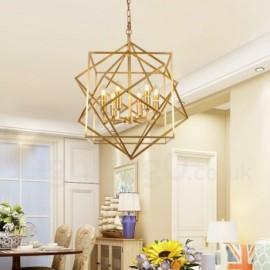 6 Light Retro,Rustic,Luxury Brass Pendant Lamp Chandelier
