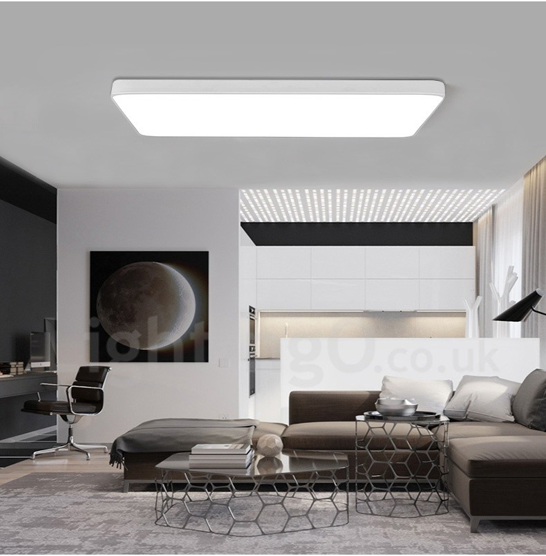Dimmable led modern contemporary nordic style flush - Modern living room ceiling lights ...