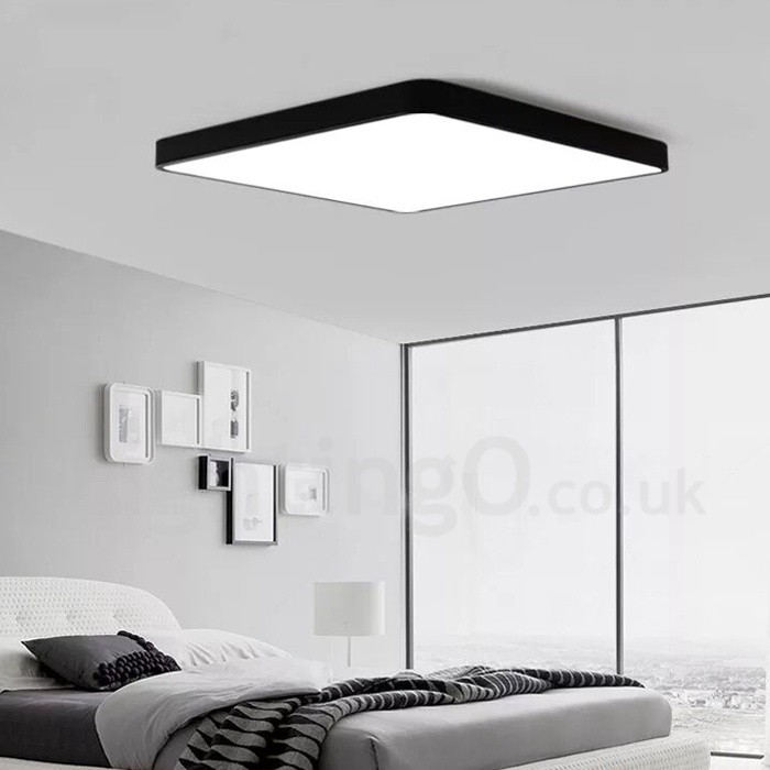 Dimmable Led Modern Contemporary Nordic Style Flush Mount Ceiling Lights With Acrylic Shade