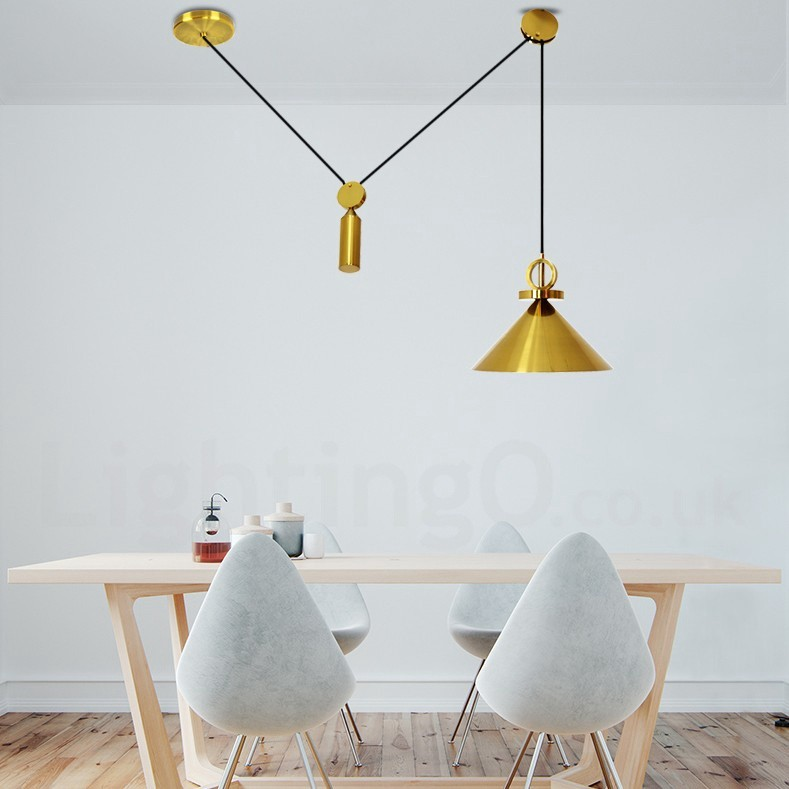 Modern Ceiling Light Dinner Room Pendant Lamp Kitchen: Pure Copper LED Modern / Contemporary Nordic Style Rise