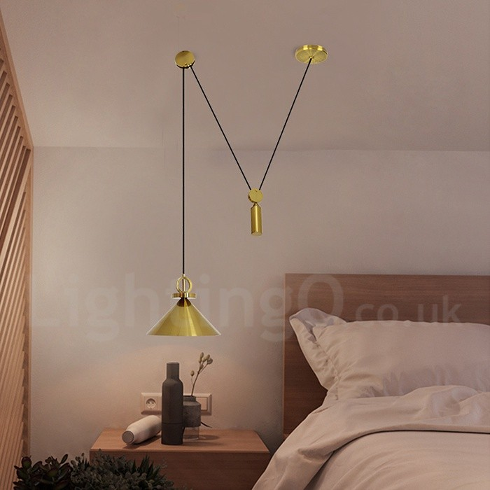 Pure Copper Led Modern Contemporary Nordic Style Rise