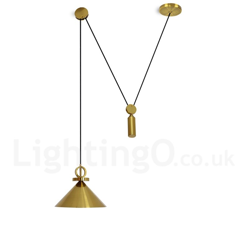Pure copper led modern contemporary nordic style rise and fall pure copper led modern contemporary nordic style rise and fall pendant light brass ceiling lamp mozeypictures Images