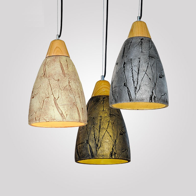 Contemporary Ceiling Lamps: 1 Light Cement Modern / Contemporary Pendant Light Ceiling