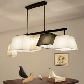 Modern / Contemporary 5 Light Steel Pendant Light with Fabric Shade for Corridor, Living Room, Dinning Room, Bedroom, Hotel