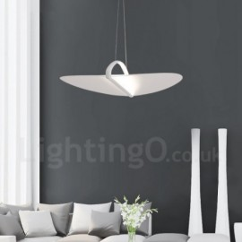 Modern / Contemporary 1 Light Acrylic Pendant Light with Steel Shade for Living Room, Dinning Room, Bedroom
