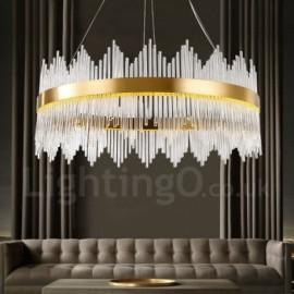 Modern / Contemporary Light Steel Pendant Light with Glass Shade for Living Room, Dinning Room, Bedroom