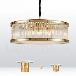 Modern / Contemporary 8 Light Steel Pendant Light with Crystal,Acrylic Shade for Living Room, Dinning Room, Bedroom, Hotel