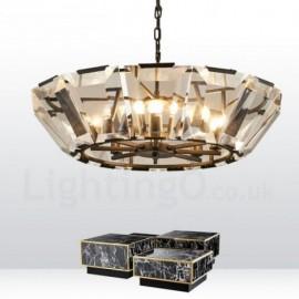Modern / Contemporary 8 Light Steel Pendant Light with CrystalGlass Shade for Living Room, Dinning Room, Bedroom, Hotel