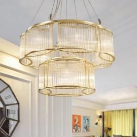 Modern / Contemporary 11 Light Steel Pendant Light with CrystalGlass Shade for Living Room, Dinning Room, Bedroom, Hotel