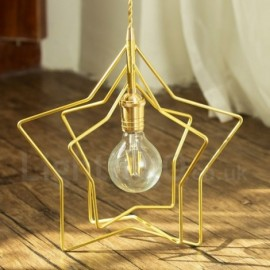 Modern / Contemporary 1 Light Brass Pendant Light with Shade for Living Room, Dinning Room, Bedroom