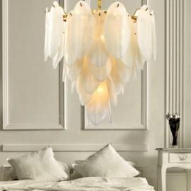 Modern / Contemporary 6 Light Steel Pendant Light with Glass Shade for Living Room, Dinning Room, Bedroom, Hotel