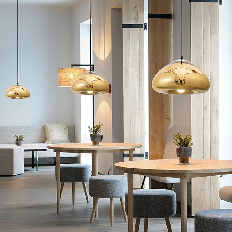 Light Filled Contemporary Living Rooms: Modern / Contemporary 1 Light Glass Pendant Light With