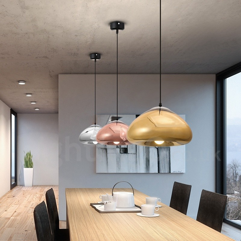 Modern / Contemporary 1 Light Glass Pendant Light With