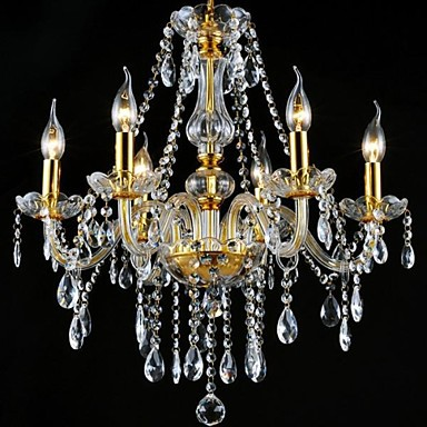 3W Modern/Contemporary / Traditional/Classic Crystal / LED / Bulb Included Electroplated Crystal ChandeliersLiving Room / Bedroom /