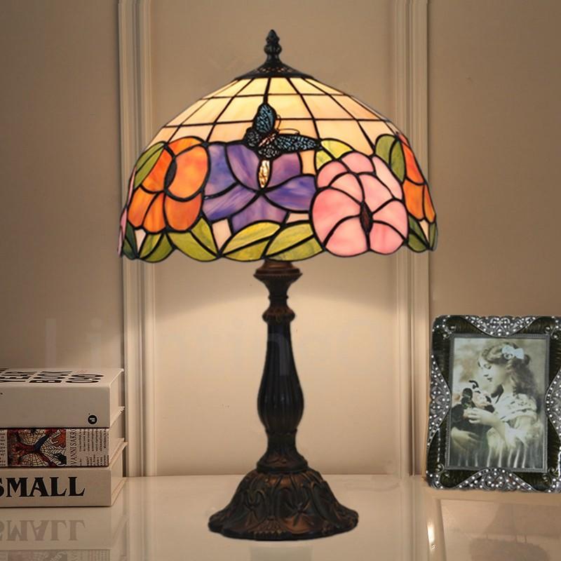 Pleasant European Retro 12 Inch Handmade Tiffany Table Lamp Living Room Bedroom Study Room 1 Lamp Sunflower Butterfly Lamp Shade Best Image Libraries Sapebelowcountryjoecom