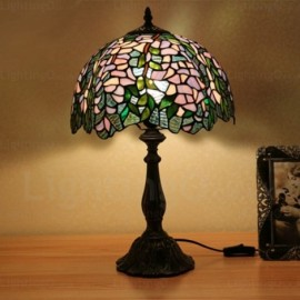 Bestseller dragonfly coloured gemstone pattern 12 inch handmade wisteria lamp shade retro 12 inch tiffany desk lamp living room bedroom study room mozeypictures Gallery