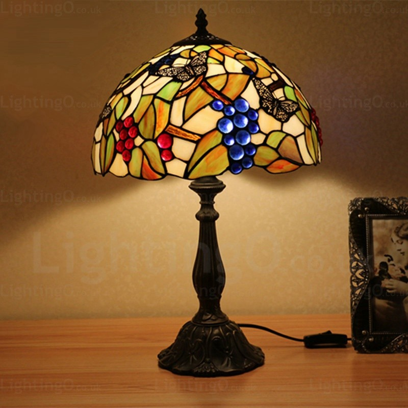 Grape Lamp Shade 12 Inch Handmade Tiffany Table Lamp