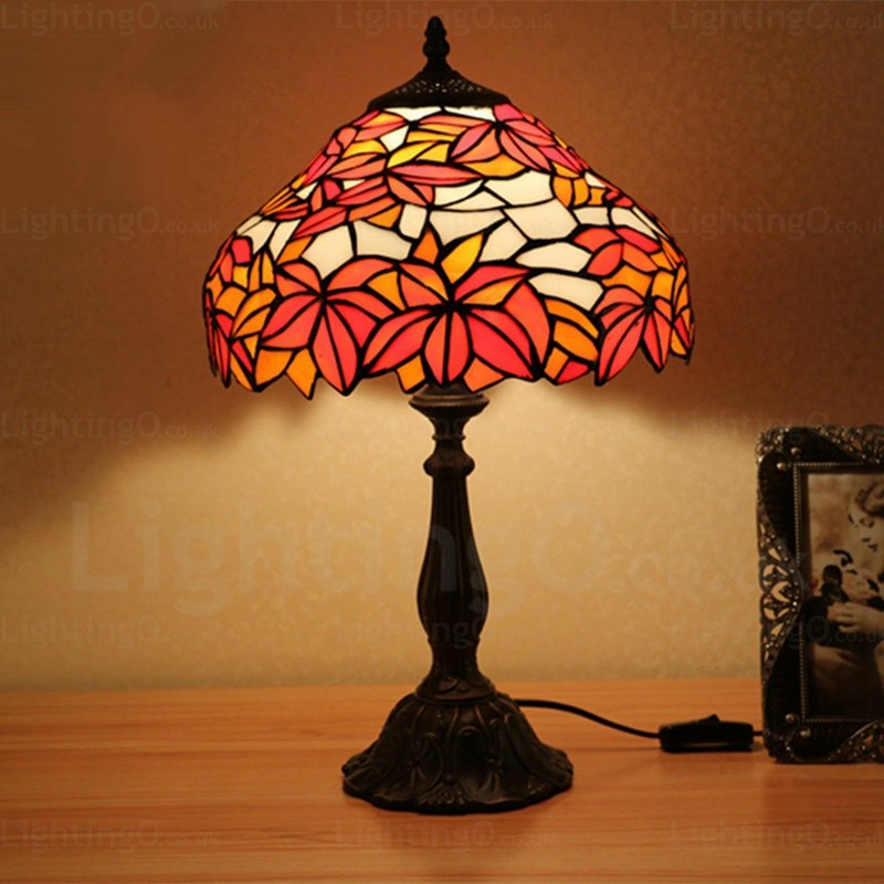 Leaf Lamp Shade Exquisite 12 Inch Handmade Tiffany Table