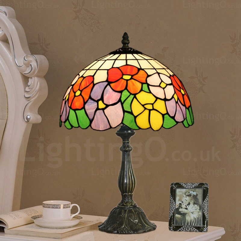 Sunflower Lamp Shade Exquisite 12 Inch Tiffany Table Lamp Living Room Bedroom Study Room