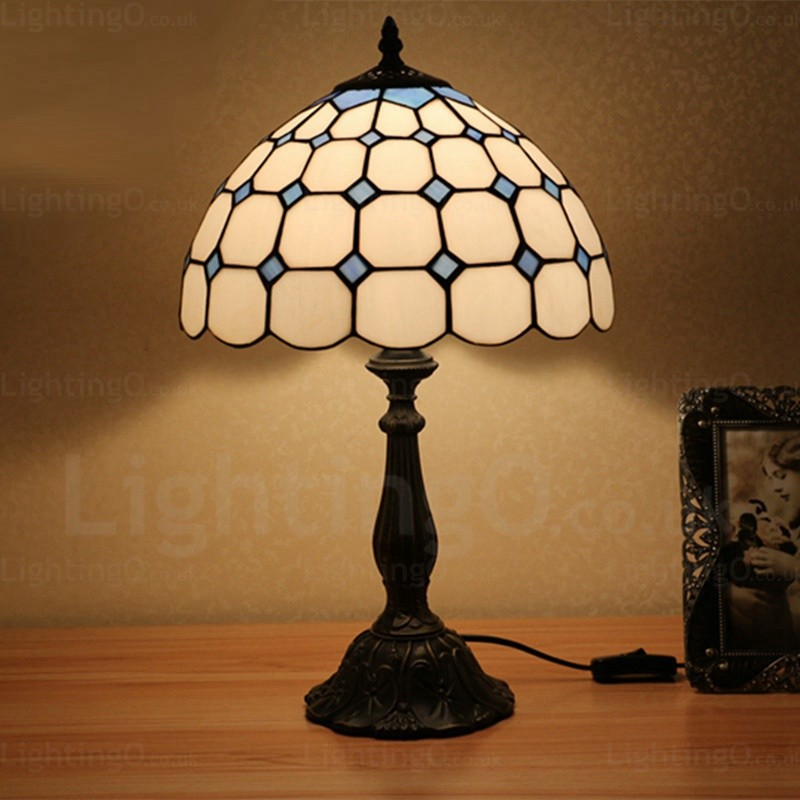 Gemstone Beads Lamp Shade Exquisite 12 Inch Tiffany Table