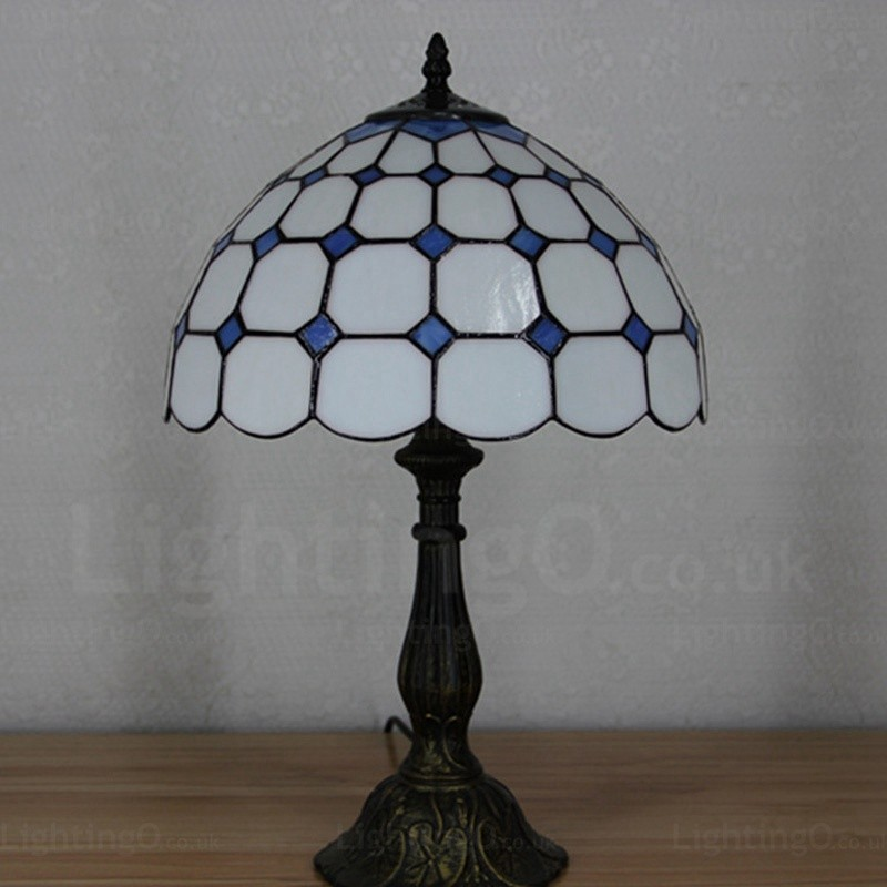 Living Room Lamp Shades: Gemstone Beads Lamp Shade Exquisite 12 Inch Tiffany Table