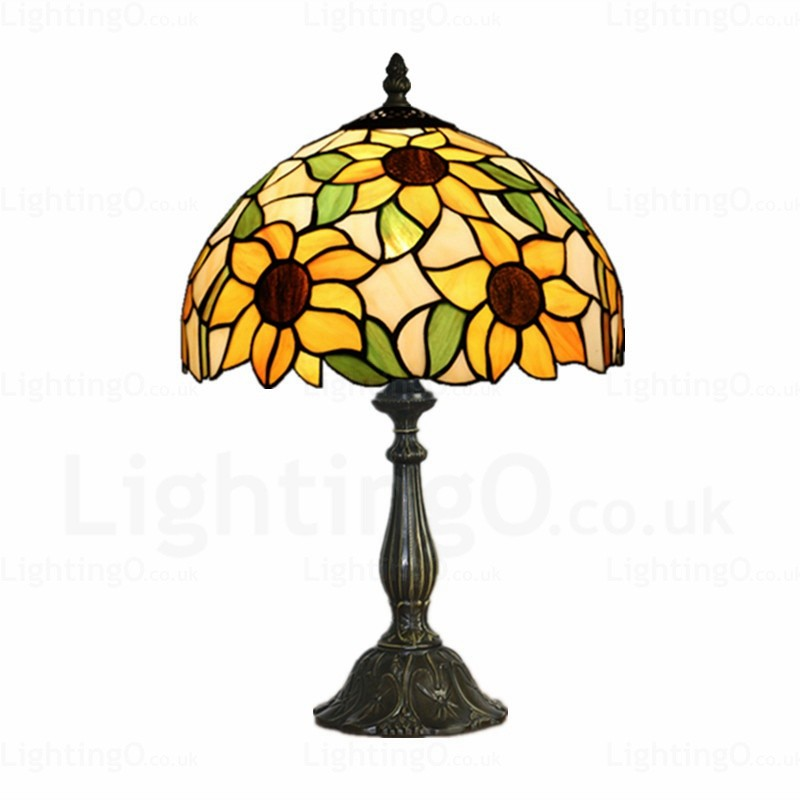 Sunflower Lamp Shade Luxury 12 Inch Handmade Tiffany Desk