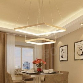 Modern / Contemporary 2 Light Aluminum Alloy Pendant Light with Acrylic Shade for Living Room, Dinning Room, Bedroom, Hotel