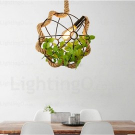1 Light Country/Rustic, Vintage/Retro Pendant Lights for Hallway, Dining Room, Storeroom, Corridor, Balcony, Hotel