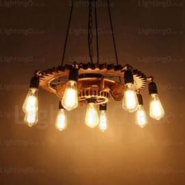 9 Light Vintage/Retro Pendant Lights for Hallway, Dining Room, Corridor, Bedroom, Balcony